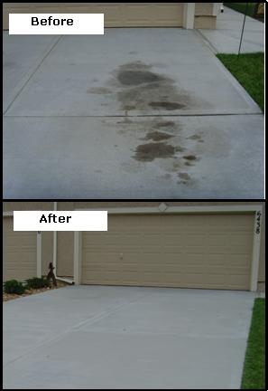 Concrete cleaning made easy really easy curtain for Clean oil off concrete