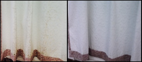 a1 mouldy curtain before after